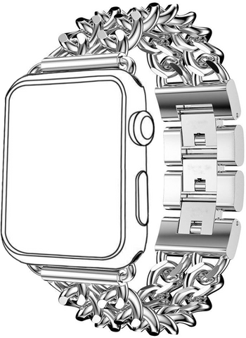 SELLERS360 Stainless Steel iWatch Metal Band for Apple iWatch (Silver)