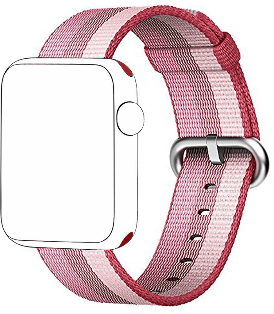 Nylon Replacement Strap for Apple Watch Series 1/2/3 (Berry)