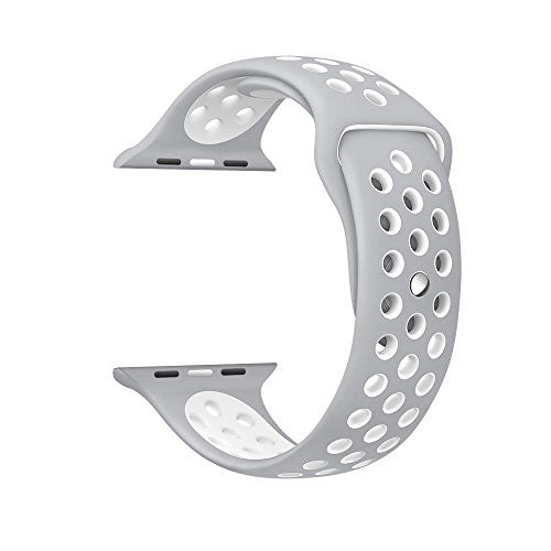 Silver/White Replacement Apple Watch Band for Series 1/2/3 by Sellers360