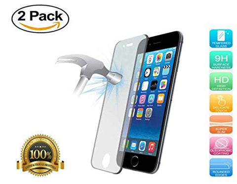 Iphone 6S Plus Premium Tempered Glass, High Quality Full High Definition Quality, Ultra Shield Tough Protector 2.5 D, 9H, 3D touch, Guaranteed Satisfaction, Lifetime Warranty (Pack of 2)
