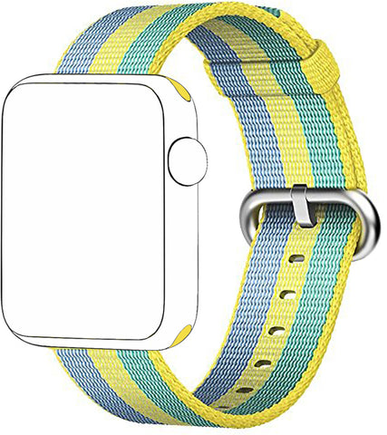 SELLERS360 Fine Woven Nylon Band for Apple Watch Series 1/2/3 (Pollen)