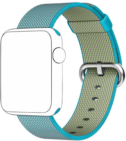 SELLERS360 Nylon Replacement Band for Apple Watch Series 1/2/3 (Blue)