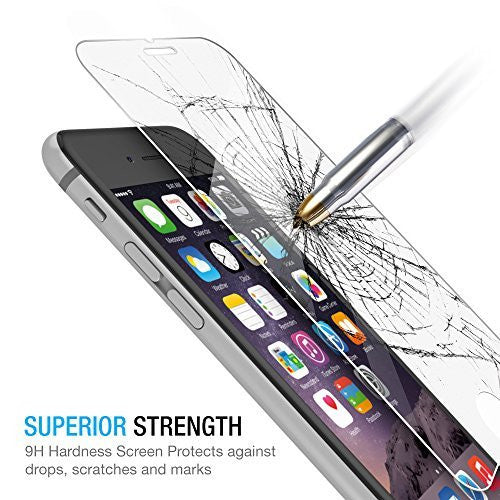 Premium Quality Tempered Glass for iPhone 6S Plus & 6 Plus (Pack of 2)