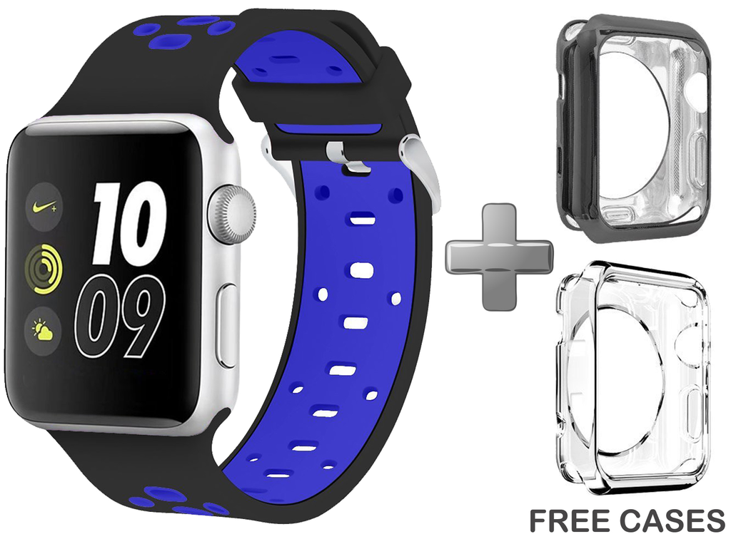 Apple Watch Band Black/Blue for Series 1/2/3 at Just $24.99