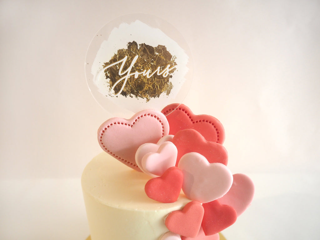 Custom Gold Swash Cake Topper - Urban Li'l