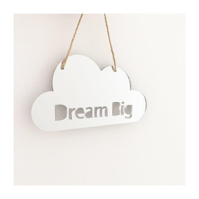 Dream big cloud mirror