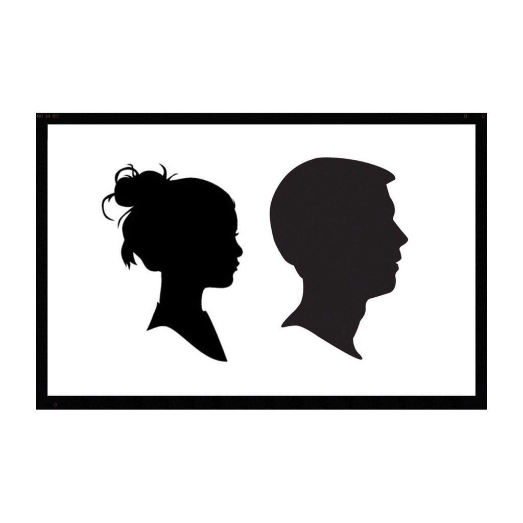 Family of 2 silhouette plaque + frame