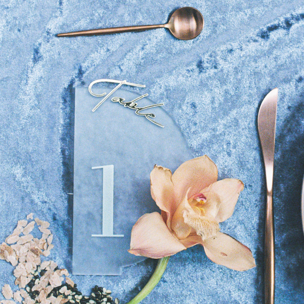 A Hint of Gold Wedding Table Signage by HellofromFlour x Urban Li'l