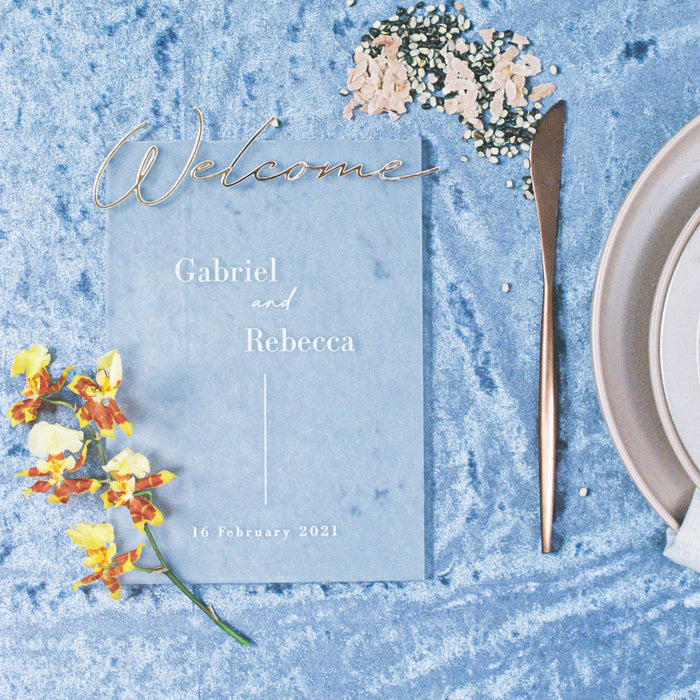 A Hint of Gold Wedding Table Standee by HellofromFlour x Urban Li'l