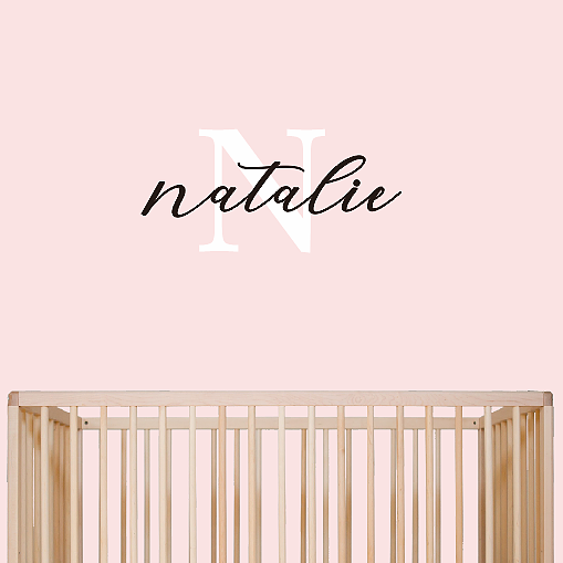 Custom Initial + Name Wall Decal