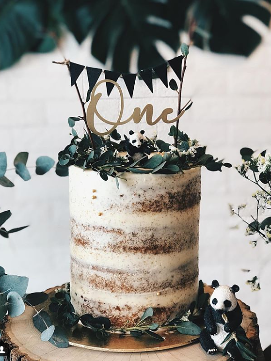 'One' Floating Board Cake Topper