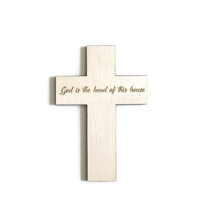 Custom Engraved Christian Cross - Urban Li'l