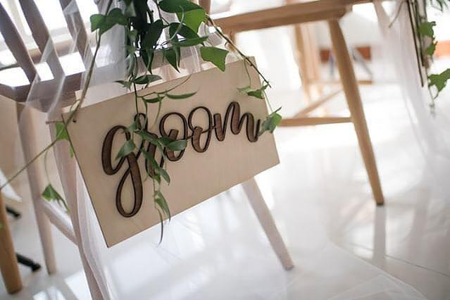 Bride & Groom Pop-up Signage with Nehohmee's Calligraphy - Urban Li'l