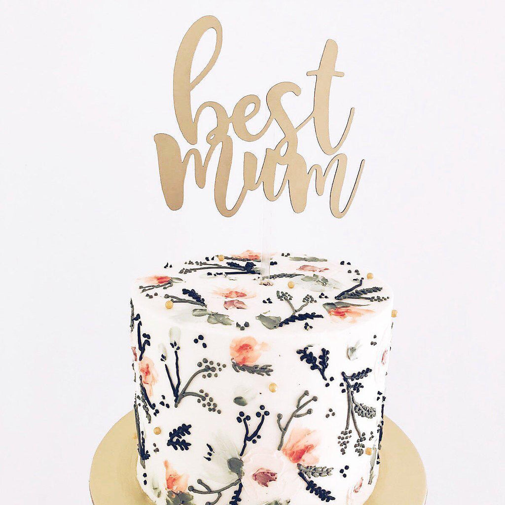 'Best Mum' Floating Board Cake Topper