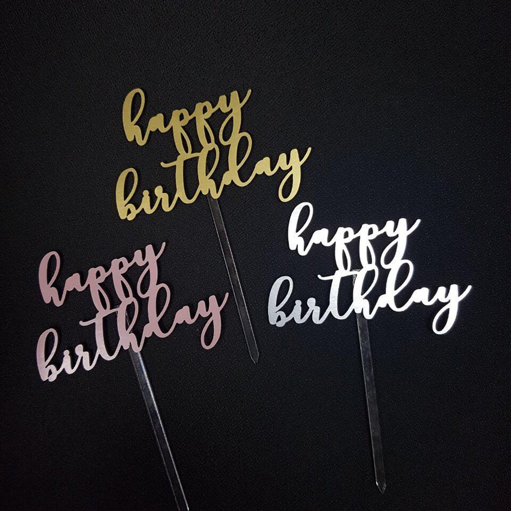 "'Happy Birthday' Floating Board Cake Topper 4.5"" - Urban Li'l"