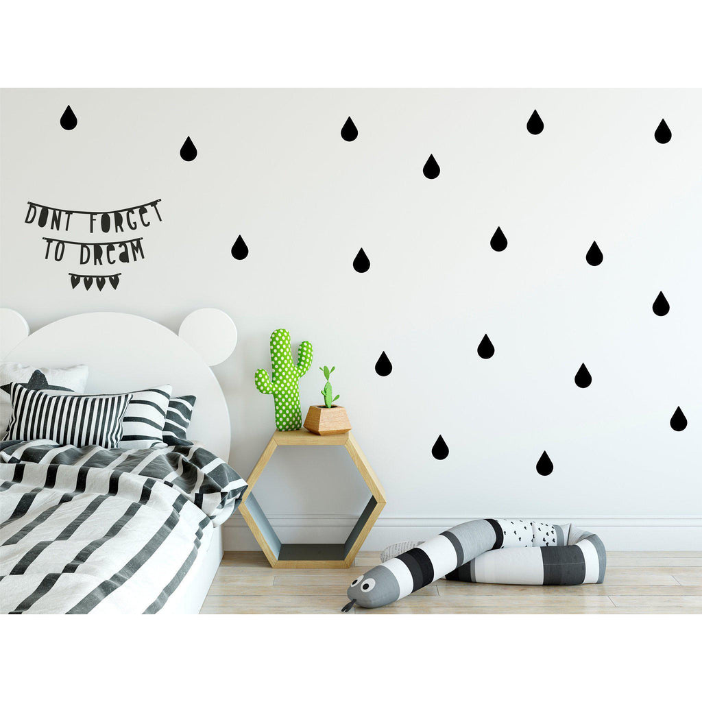 Raindrops Wall Decals