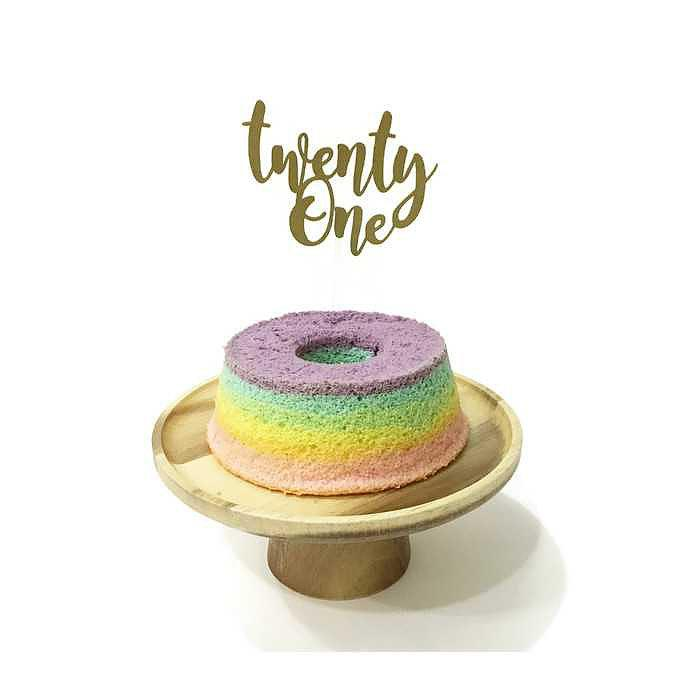 'Twenty One' Floating Board Cake Topper