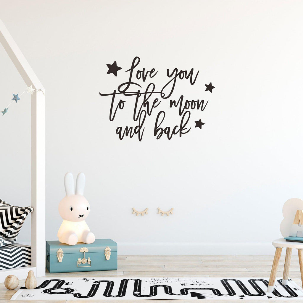 'Love you to the moon and back' Wall Decal