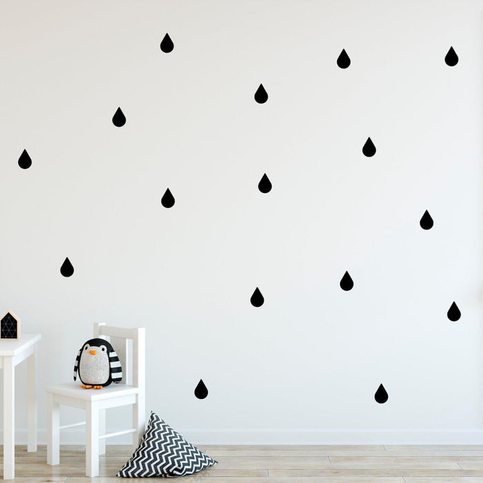 Raindrops Wall Decals - Urban Li'l