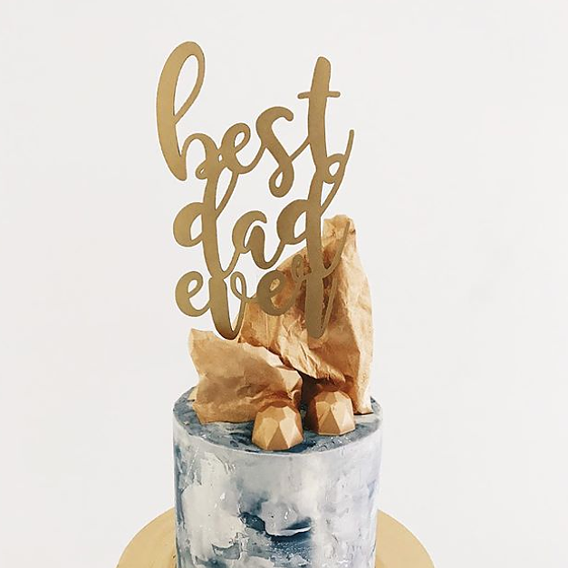 'Best Dad Ever' Floating Board Cake Topper
