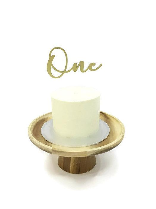 'One' Floating Board Cake Topper - Urban Li'l