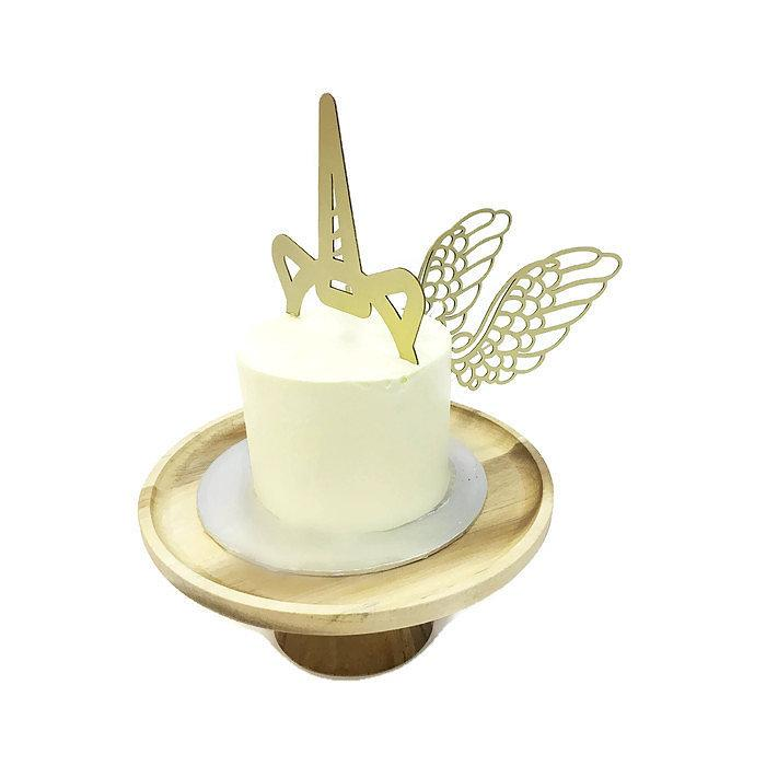 Unicorn Horn & Wings Board Cake Topper