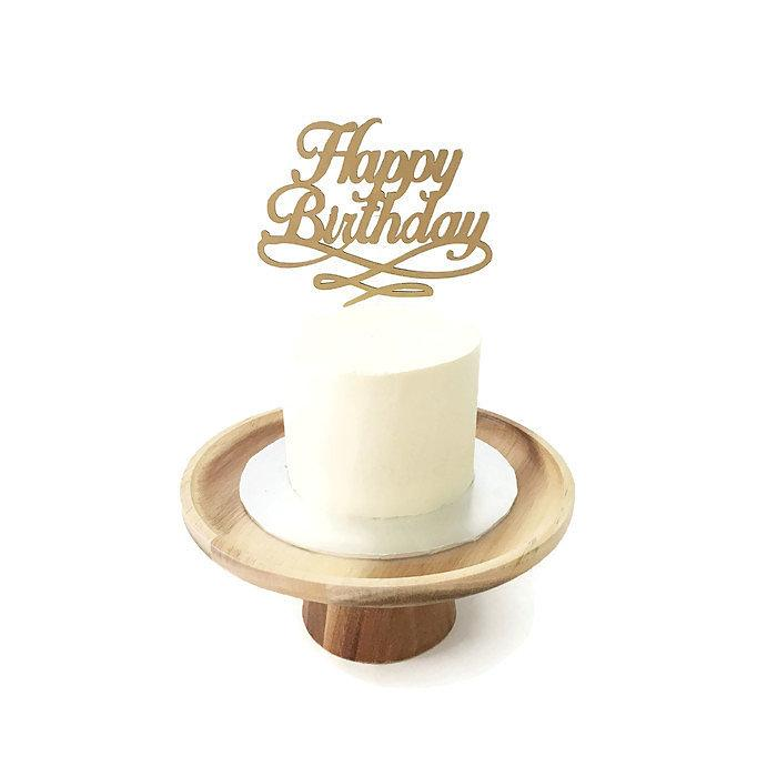 'Happy Birthday' Swirls Floating Board Cake Topper 4.5""