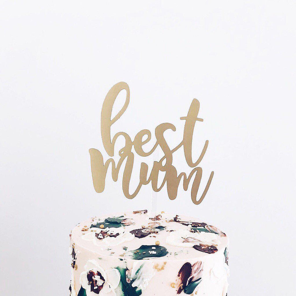'Best Mum' Floating Board Cake Topper - Urban Li'l