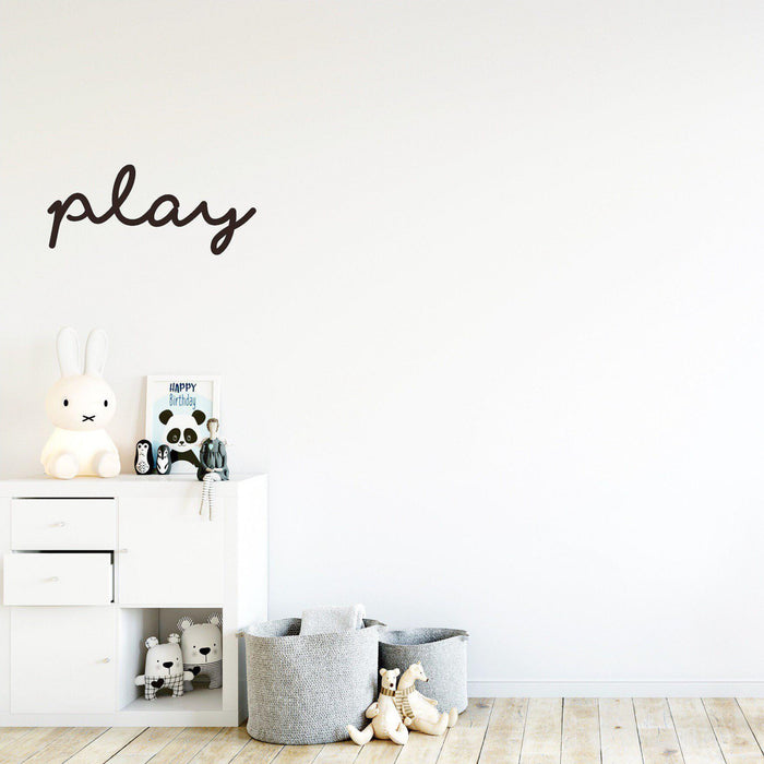 'Play' Wall Decal/Plaque