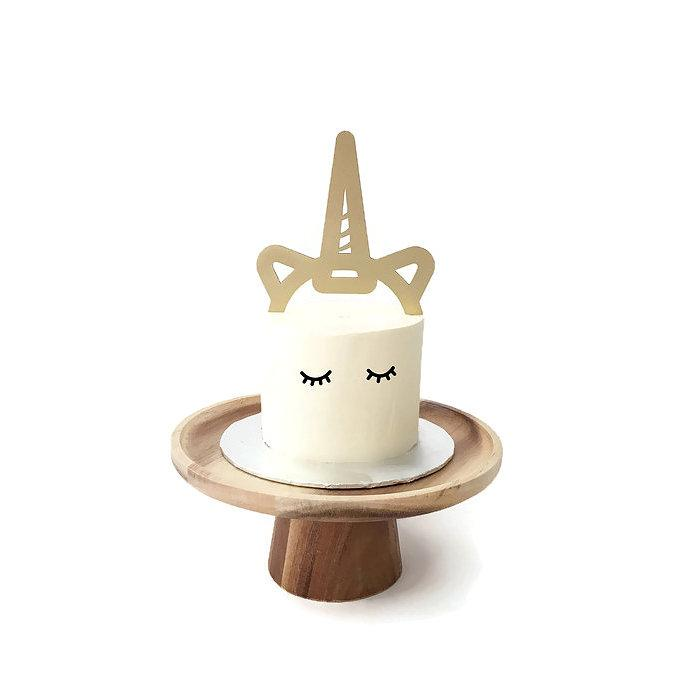 Unicorn Horn Board Cake Topper