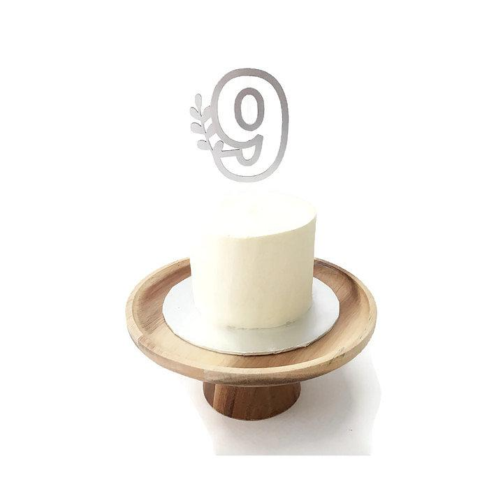 Numerals Floating Board Cake Topper