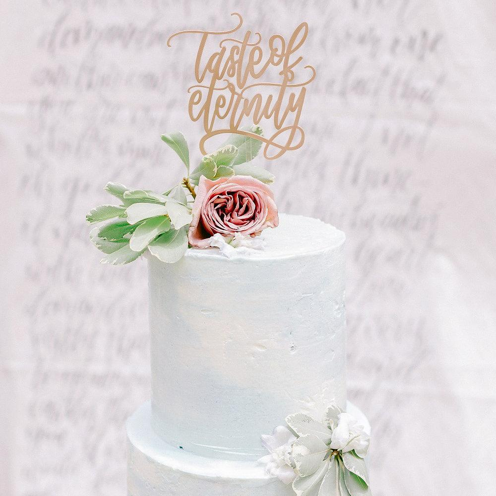 Custom Cake Topper with Nehohmee Calligraphy