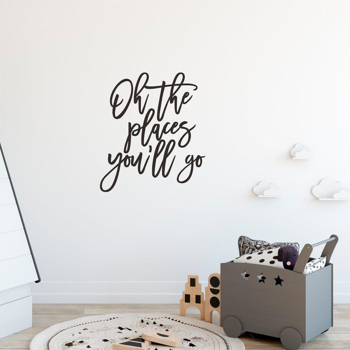 'Oh the place you'll go' Wall Decal