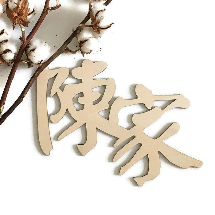Custom Chinese Family Plaque -No border