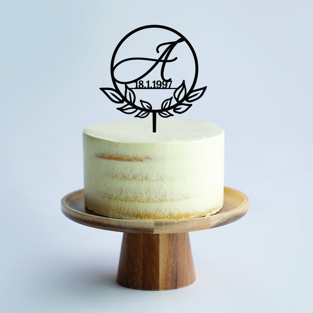 Custom Botanical Cake Topper