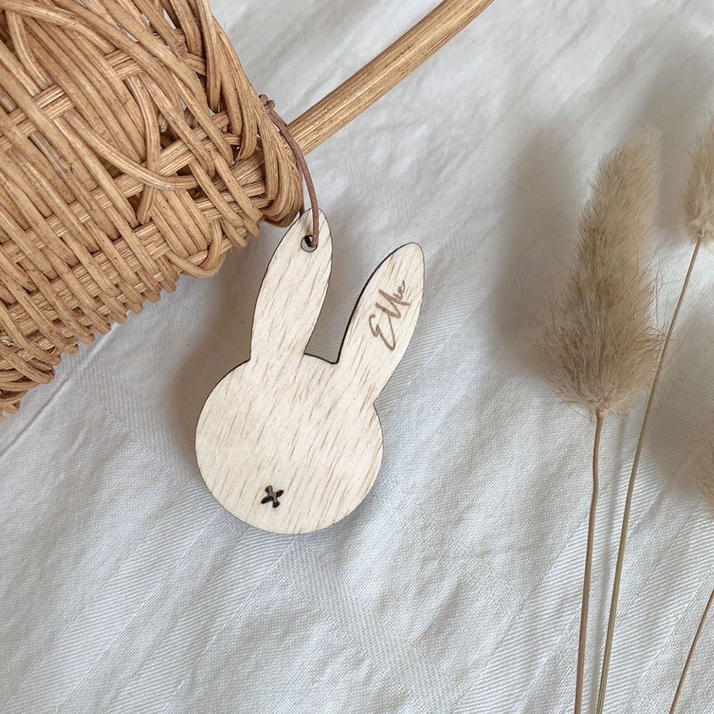 Bunny Face Basket Name Tag