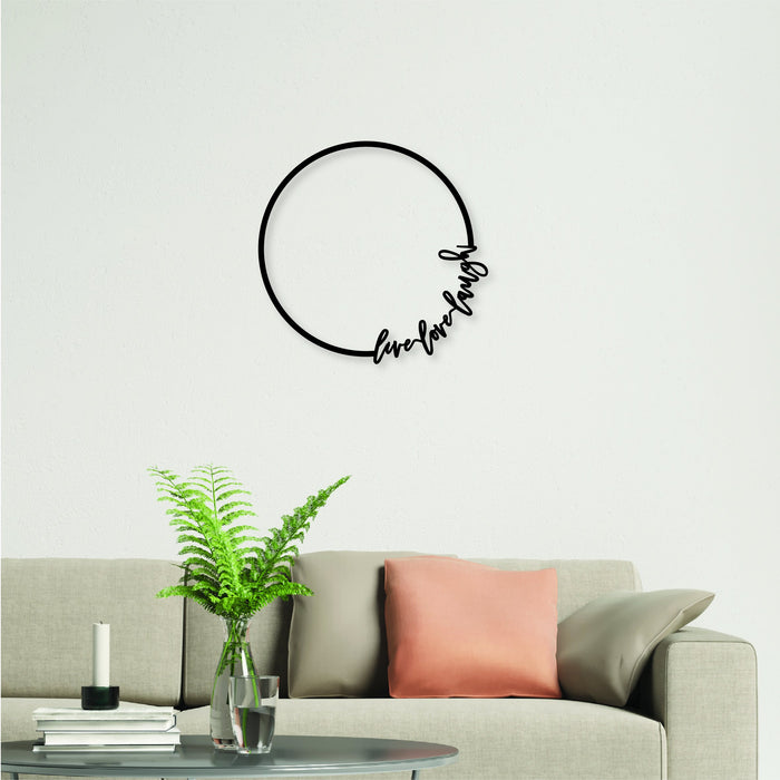 Calligraphy Hoop Plaque