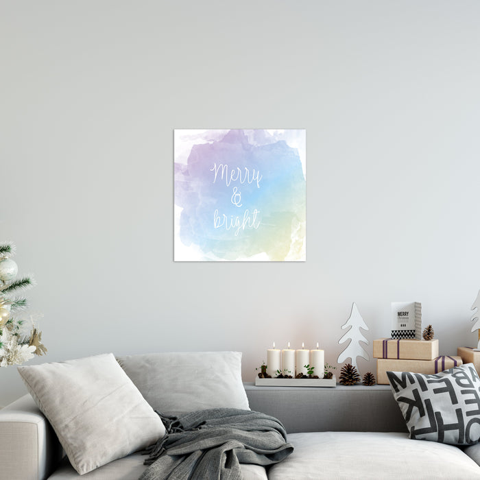 Merry And Bright Christmas Canvas