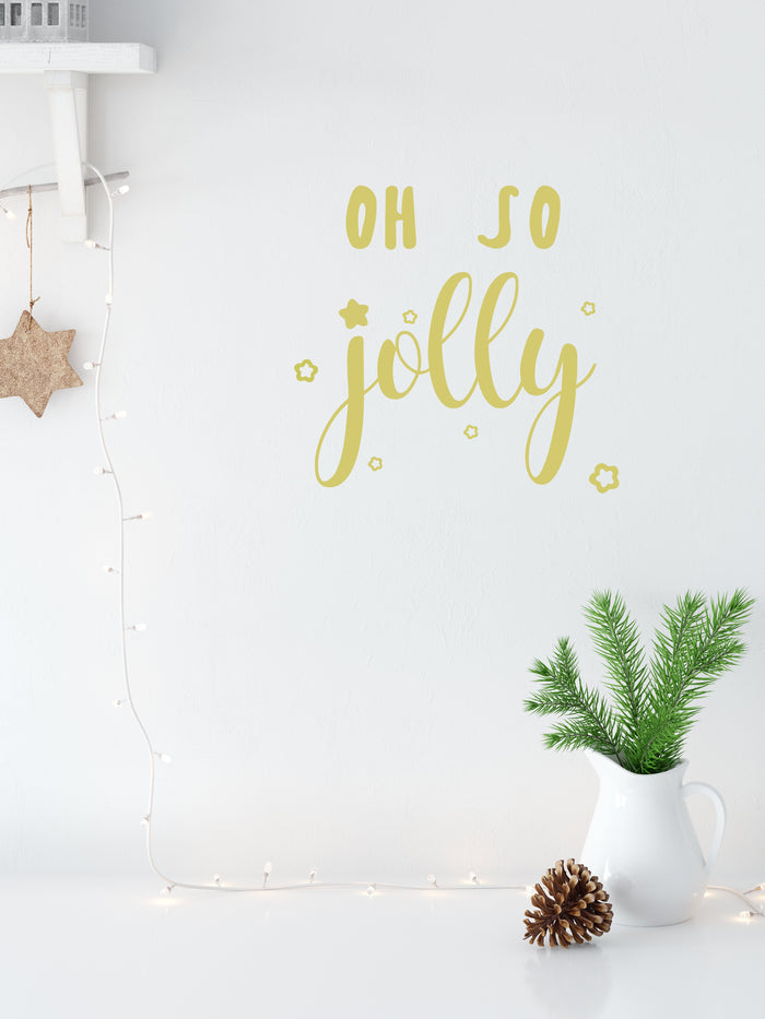 Oh So Jolly Wall Decal