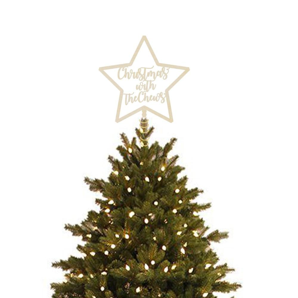 Personalised Christmas Star Tree Topper - Urban Li'l