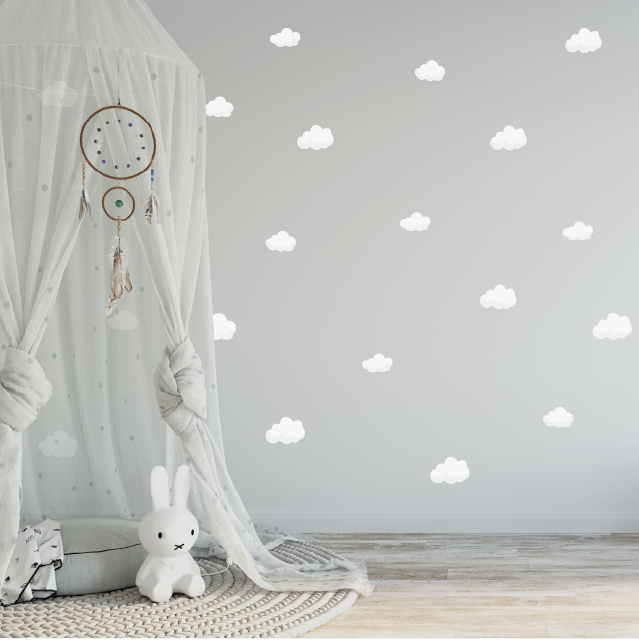 Petite Clouds Fabric Decal