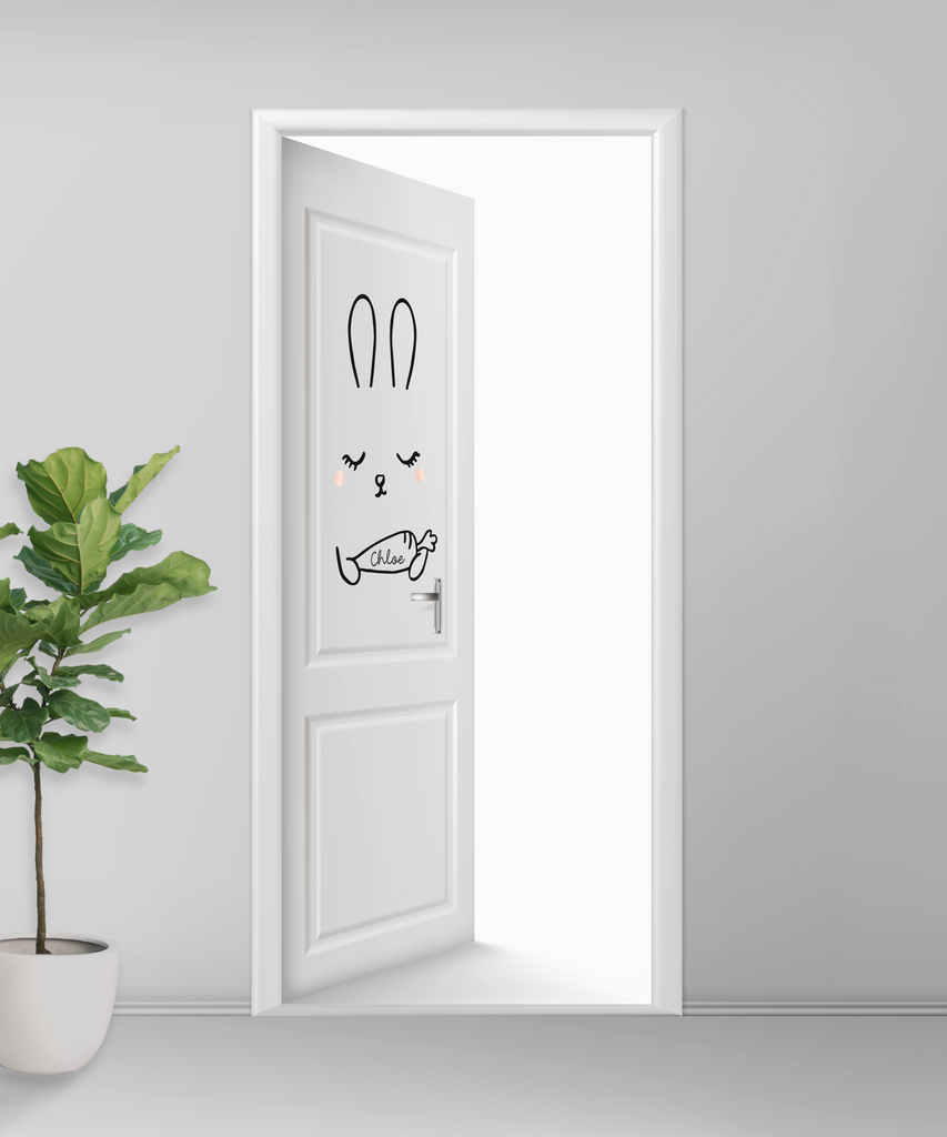 Bunny Door Decal - Urban Li'l
