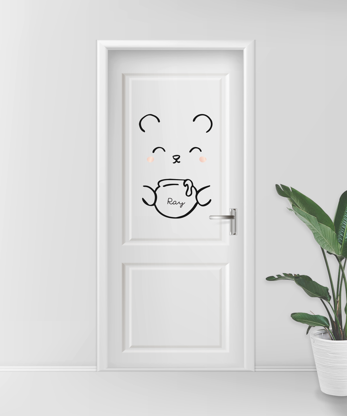 Bear Door Decal - Urban Li'l