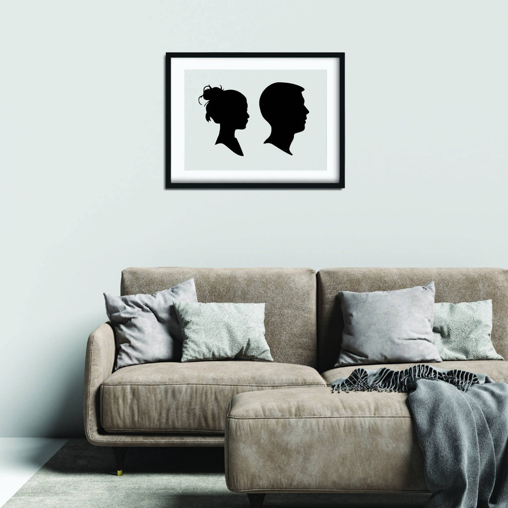 FAMILY OF 2 SILHOUETTE POSTER