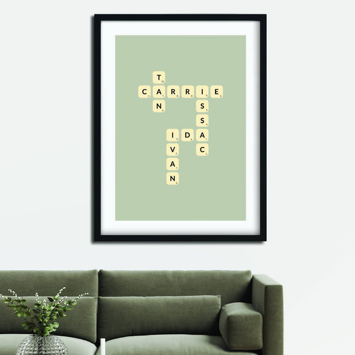 Family Scrabble Poster - Urban Li'l