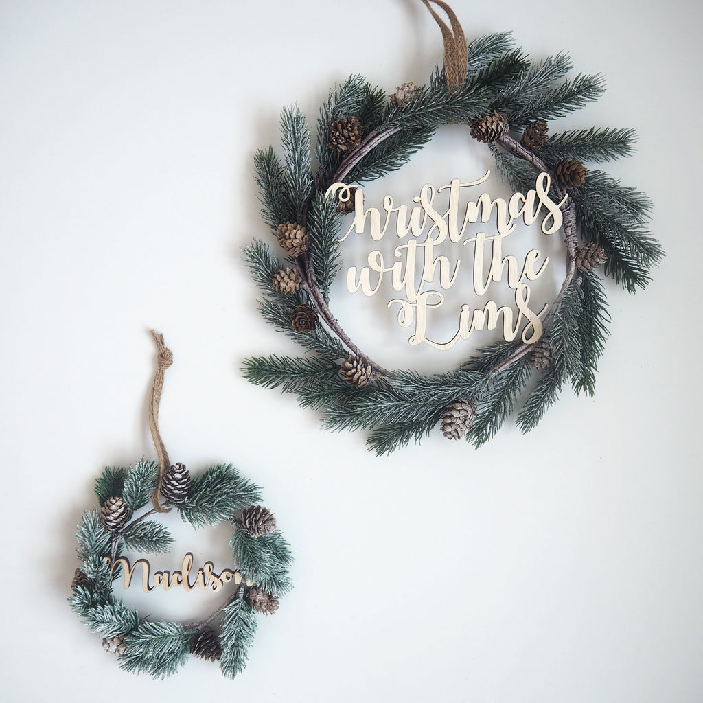 Fancy Christmas Wreath -Petite Acorn Evergreen