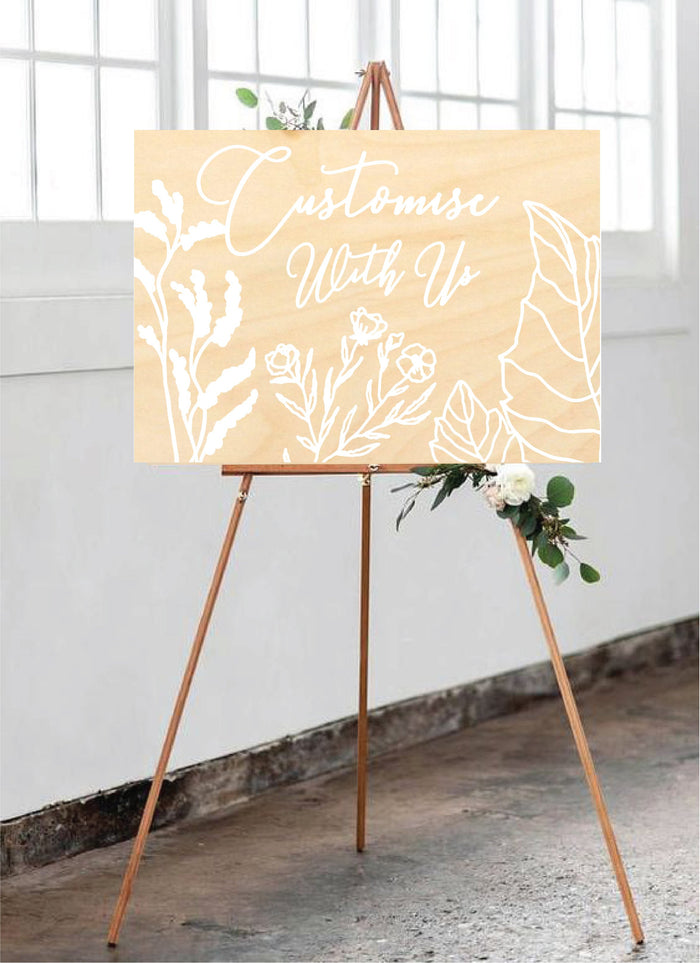 Garden Bloom Wedding Signage