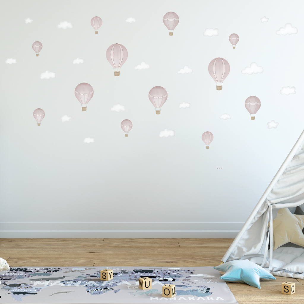 Up Up And Away Fabric Decal