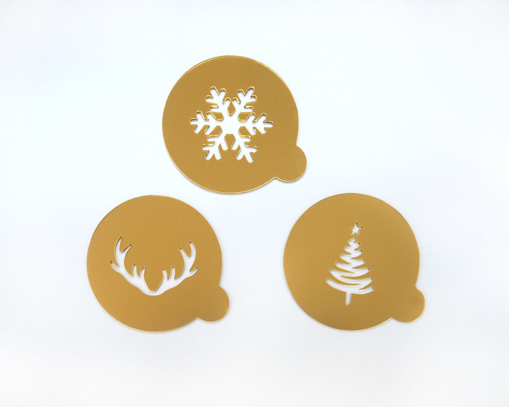 Hot Choc Stencil -set of 3
