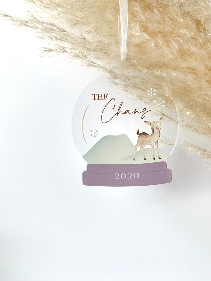Deer Snow Globe Ornament
